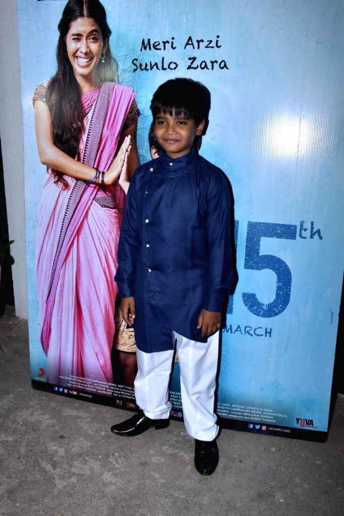 "Child actor Om Kanojiya at the screening of his upcoming film ""Mere Pyare Prime Minister"" in Mumbai, on March 14, 2019. - O"