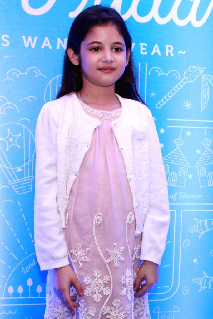Child artist Harshaali Malhotra during a programme in New Delhi, on Nov 14, 2015.