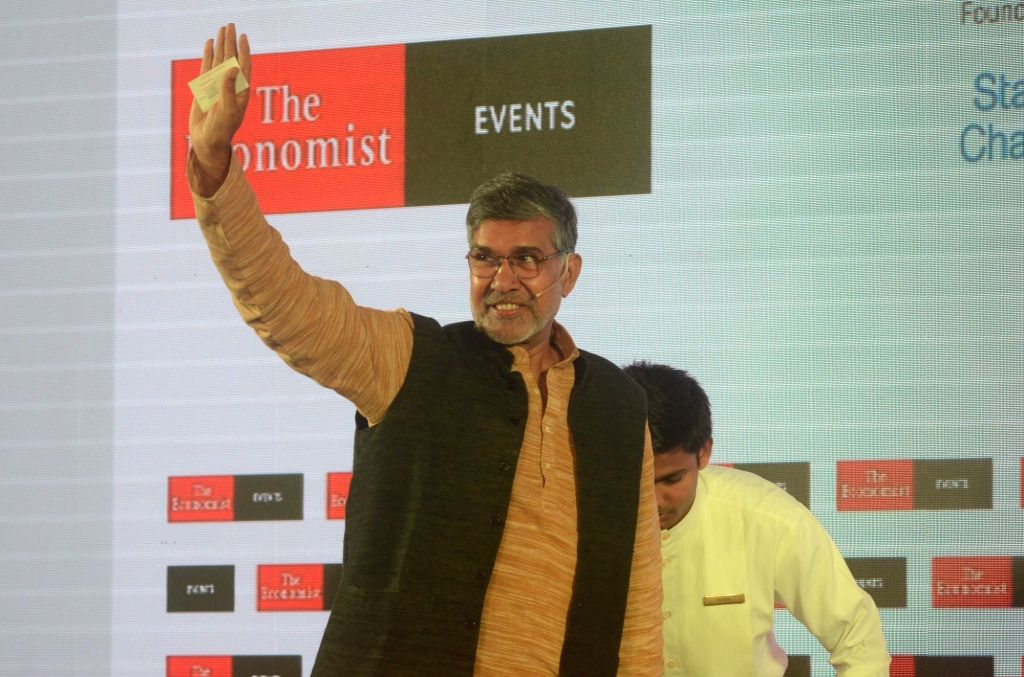 Child Rights activist and Nobel laureate Kailash Satyarthi at 'The Economist India Summit 2018', in Mumbai on Oct 25, 2018. - Kailash Satyarthi
