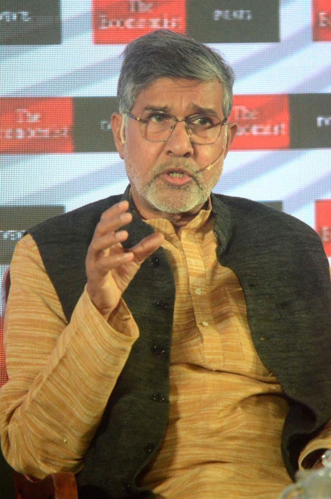 Child Rights activist and Nobel laureate Kailash Satyarthi addresses at 'The Economist India Summit 2018', in Mumbai on Oct 25, 2018. - Kailash Satyarthi