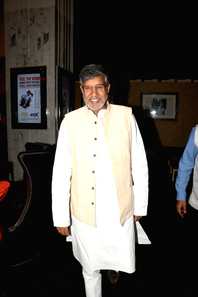 "Child Rights activist and Nobel laureate Kailash Satyarthi during the screening of film ""Jhalki"" in Mumbai on Sep 7, 2019. - Kailash Satyarthi"