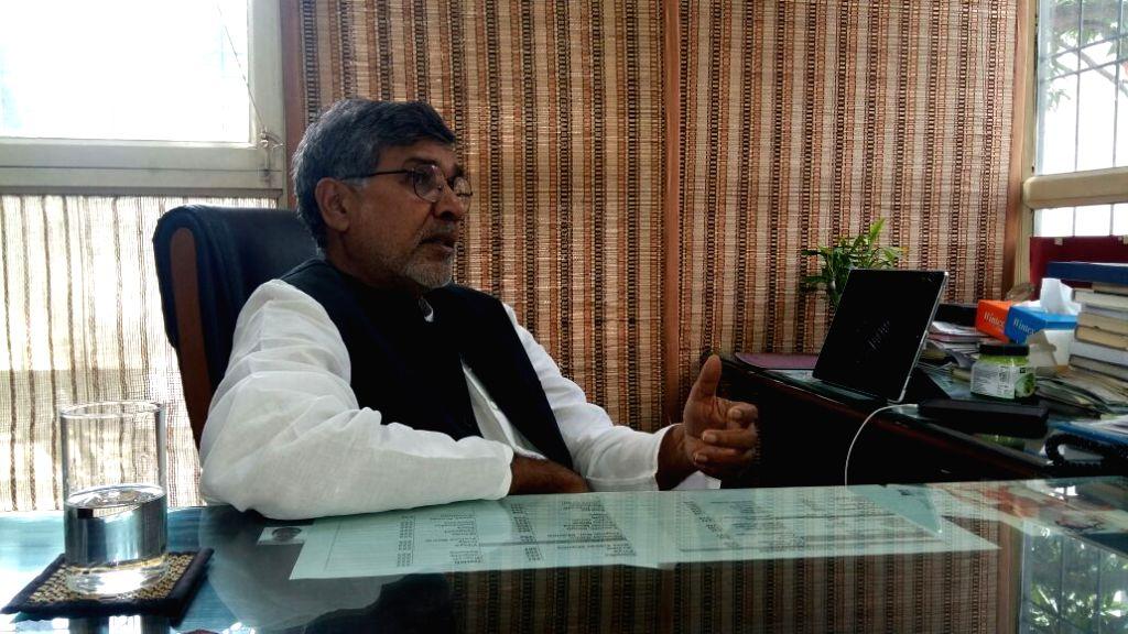 Child rights campaigner Kailash Satyarthi speaking with IANS - Kailash Satyarthi