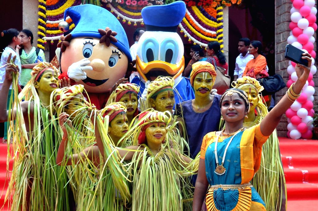 Children during a cultural programme organised on Children's Day in Bengaluru on Nov. 14, 2016.