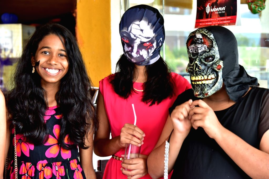 Children during a Halloween party in Hyderabad, on Nov 1, 2015.