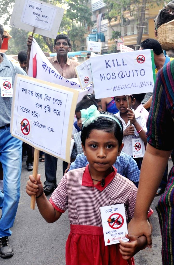 Awareness rally regarding mosquito-borne diseases
