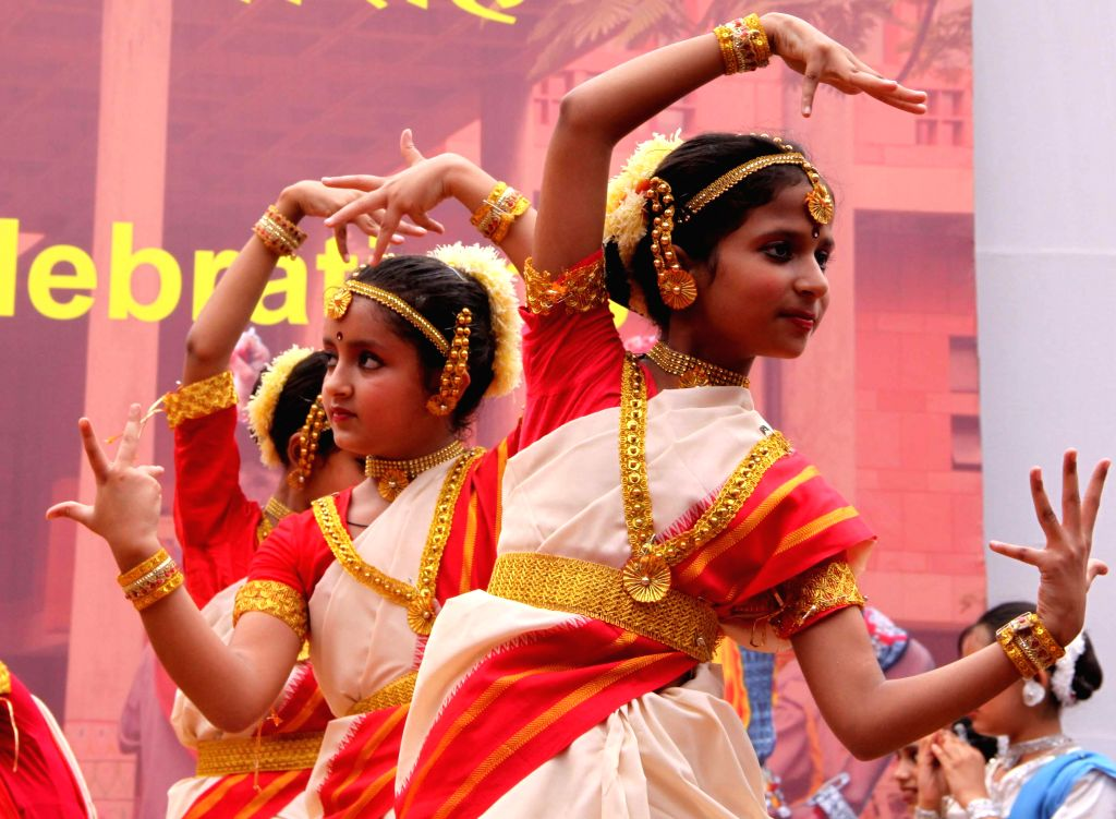 Children perform during 54th Foundation Day NCERT in New Delhi on Sept 1, 2014.