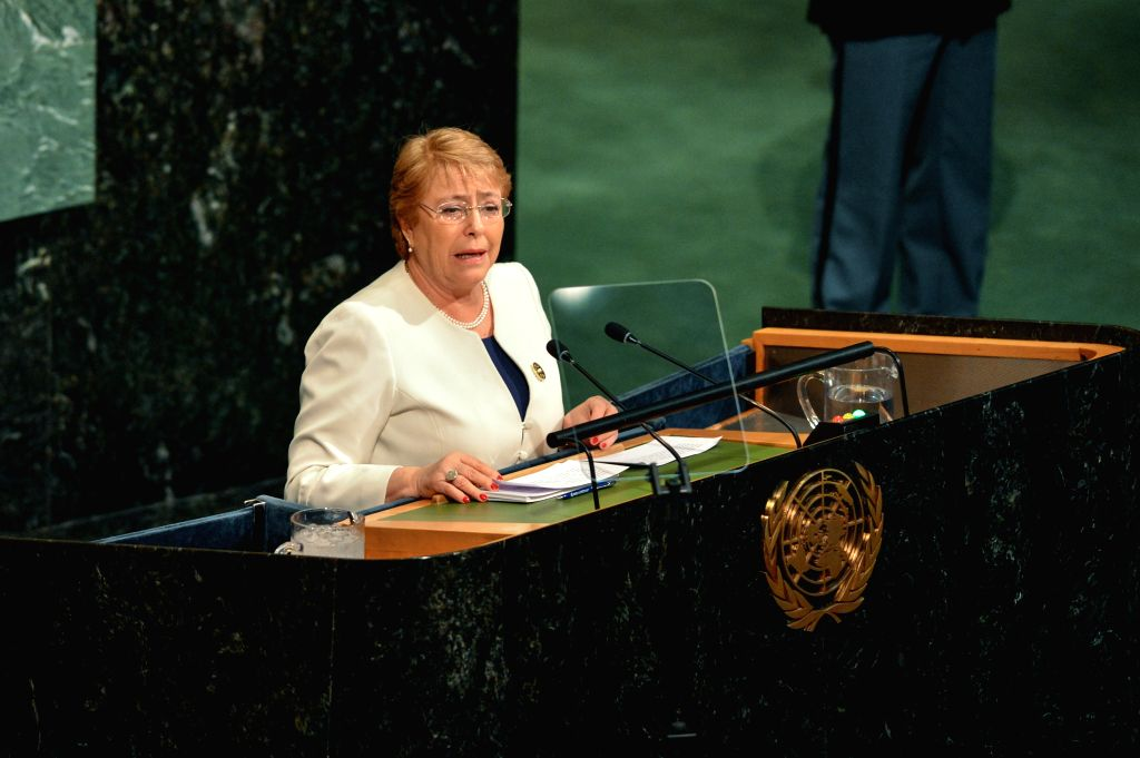 Chilean President Michelle Bachelet. (Xinhua/Li Rui/IANS)