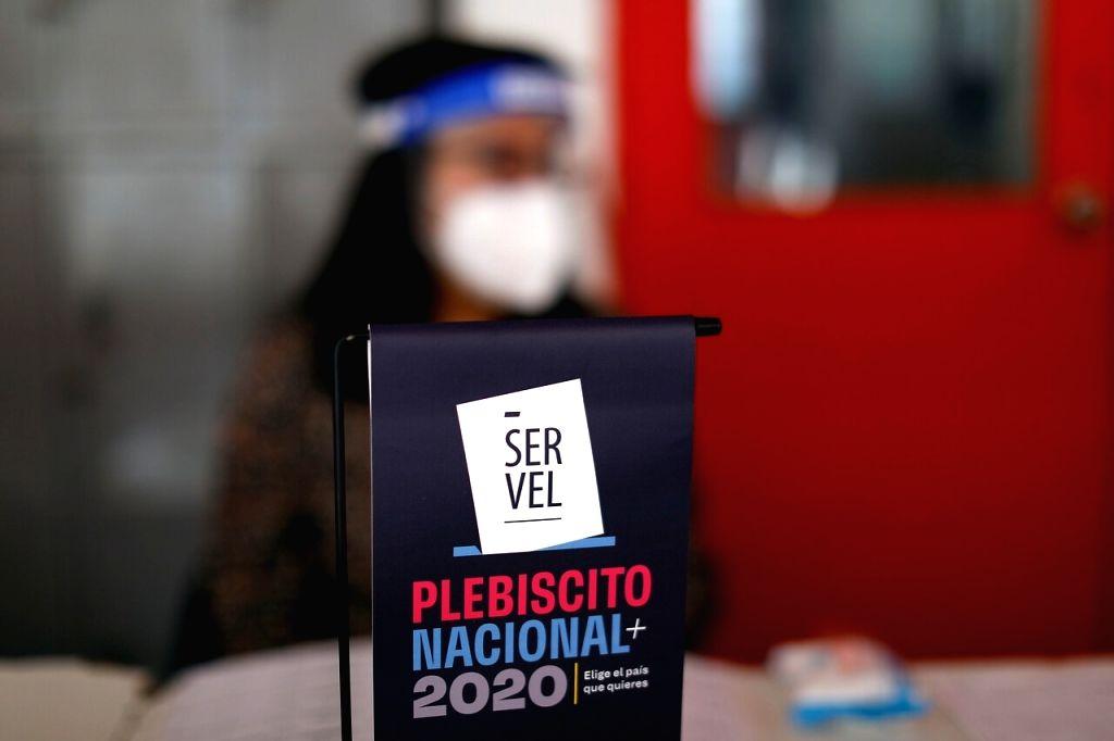 Chileans vote in constitutional referendum. (Credit: twitter/ChileTodayNews)