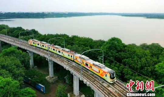 China-made Metro line being operated in India.