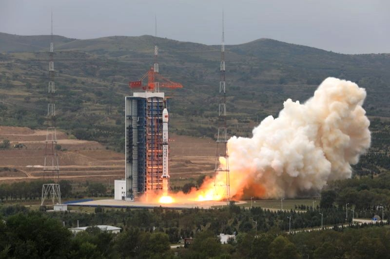 China successfully launches resource number one 02D satellit.