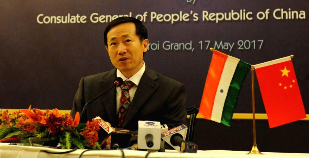"""Chinese Consul General in Kolkata Ma Zhanwu during a press conference in Kolkata on """"Belt and Road Forum for International Cooperation"""" in Kolkata, on May 17, 2017."""