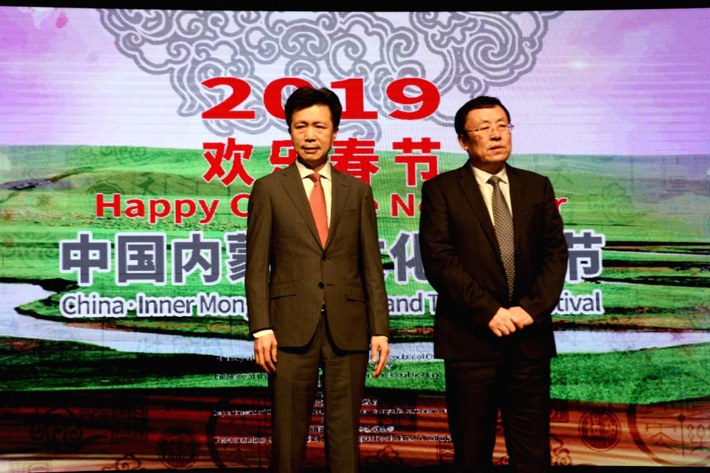 Chinese Consul General to Kolkata Zha Liyou during a programme organised to celebrate Chinese New Year in Kolkata on Jan 28, 2019.