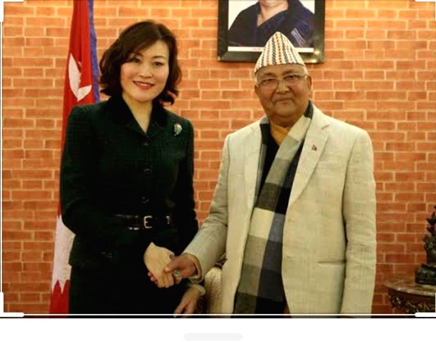 """Chinese lady diplomat """"inspired"""" PM Oli to redraw Nepal map."""