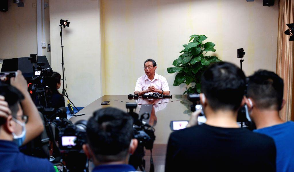 Chinese respiratory specialist Zhong Nanshan speaks in an interview in Guangzhou, south China's Guangdong Province, July 29, 2020. Chinese respiratory specialist ...