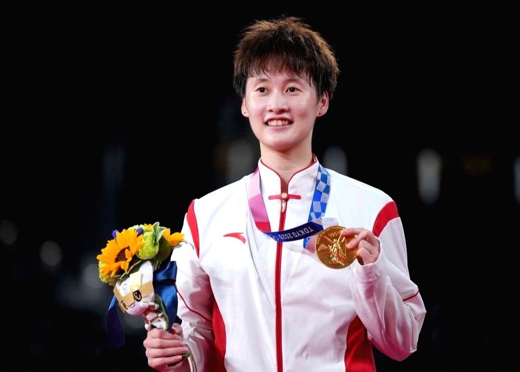 Chinese shuttler Chen Yufei wins Olympic women's singles gold.