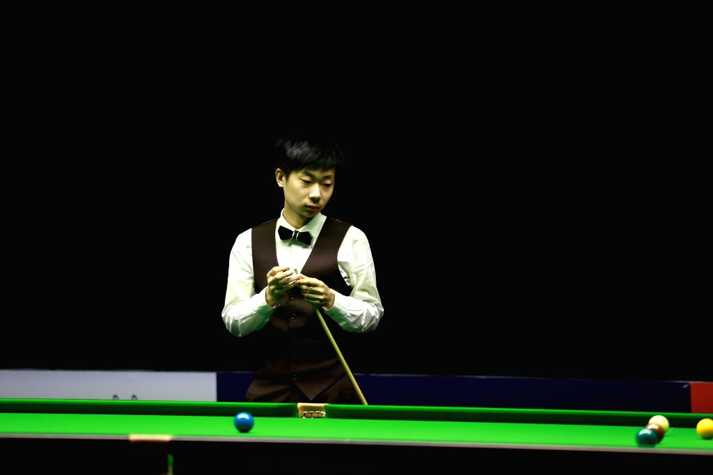 Chinese snooker player Lyu Haotian, who made his way into the finals with a victory of 4-2 defending England's Anthony Hamilton at the 5th Indian Open Snooker tournament, in Kerala's Kochi, on ...