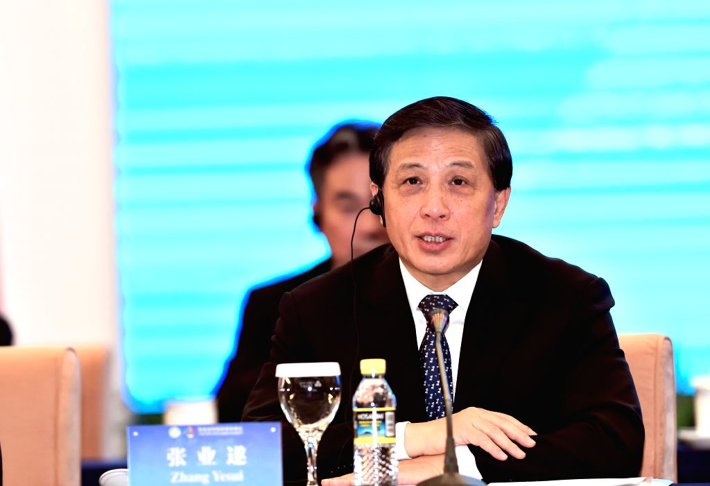Chinese Vice Foreign Minister Zhang Yesui speaks during the first BRICS Media Summit in Beijing, capital of China, Dec. 1, 2015. (Xinhua/Jin Liangkuai) - Zhang Yesui