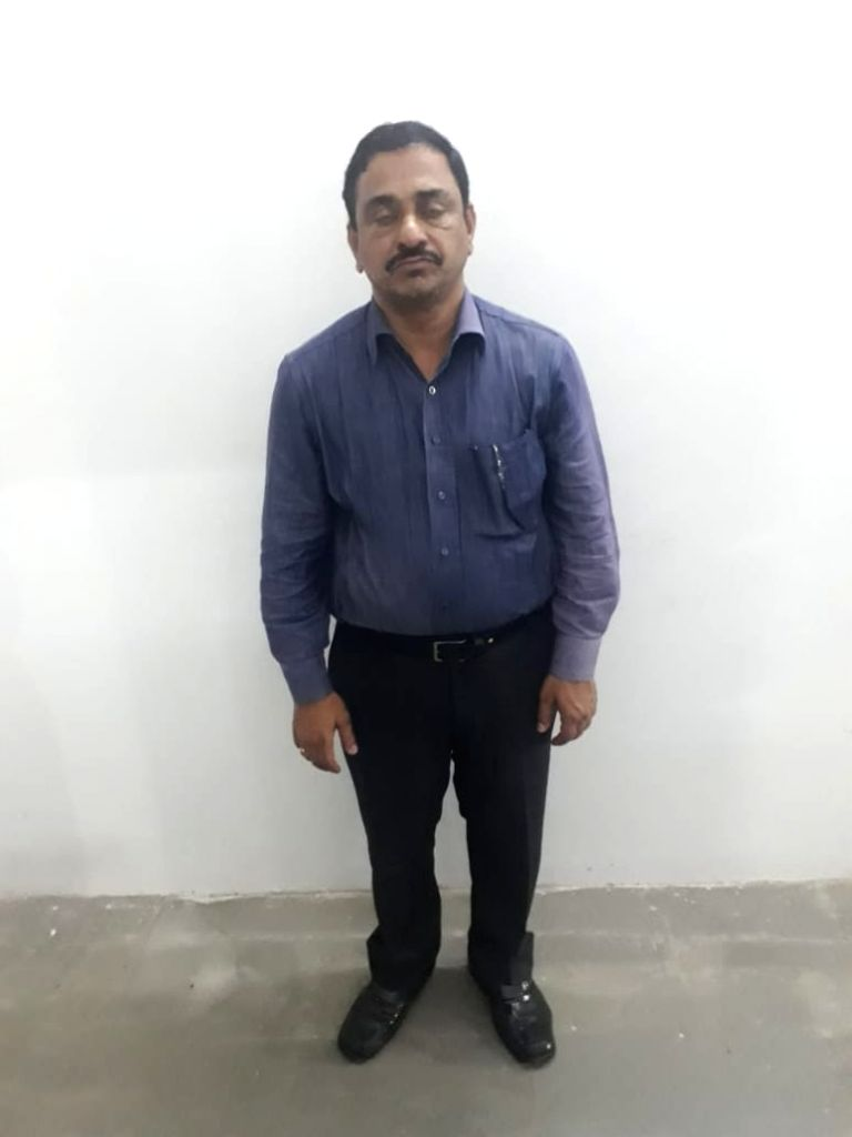 Chintarandi Shrinivasulu, who has been arrested for attempting theft at a Delhi hotel on Oct 17, 2019.