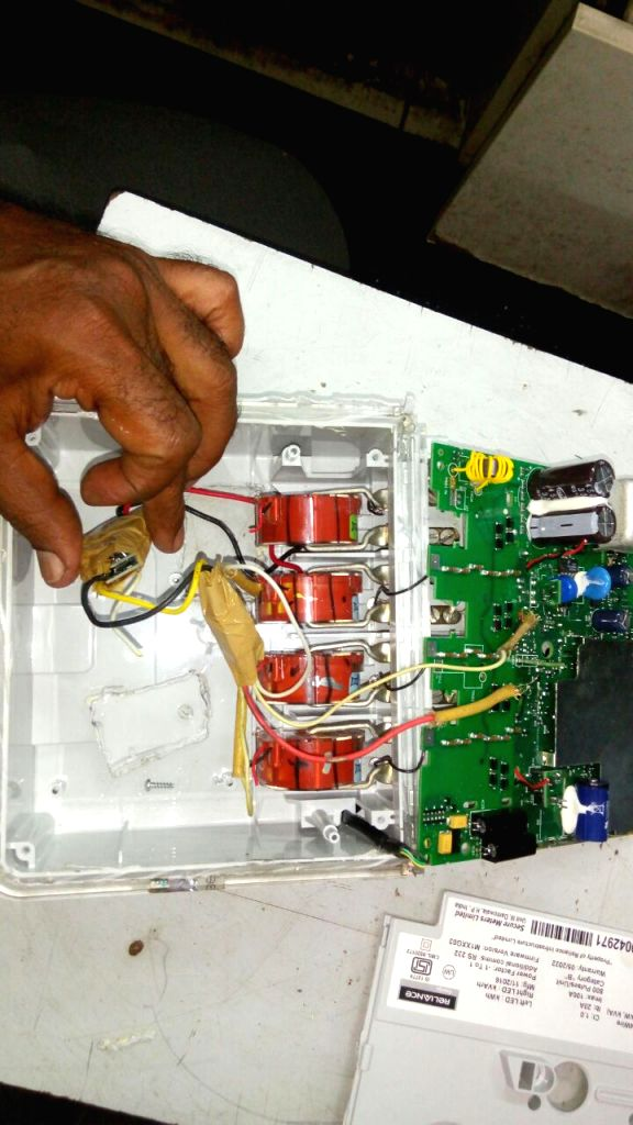 Chip found inside the Meter box which was operated through Remote Control