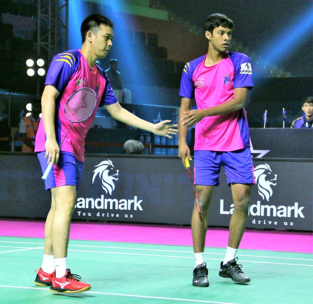 Chirag Shetty and Hendra Saitewan. - Chirag Shetty