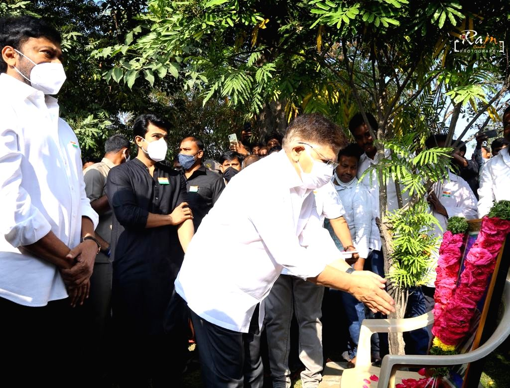 Chiranjeevi family participated in Republic Day Celebrations at Chiranjeevi blood bank, Jubilee Hills, Hyderabad