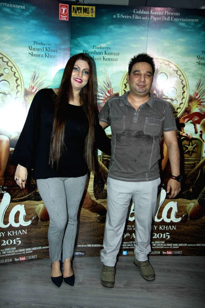 Choreographer Ahmed Khan along with his wife Shaira Khan during the promotion of film Ek Paheli Leela in Mumbai on March 30, 2015. - Ahmed Khan and Shaira Khan
