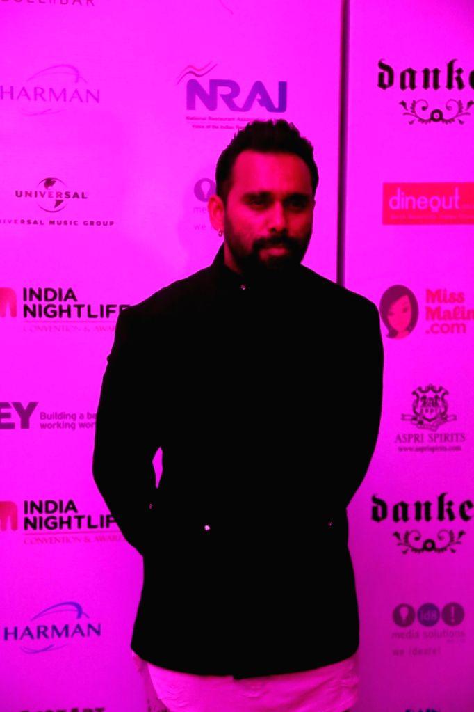 Choreographer Bosco Martis during the India Nightlife Convention Awards in Mumbai on Sept 26, 2016.