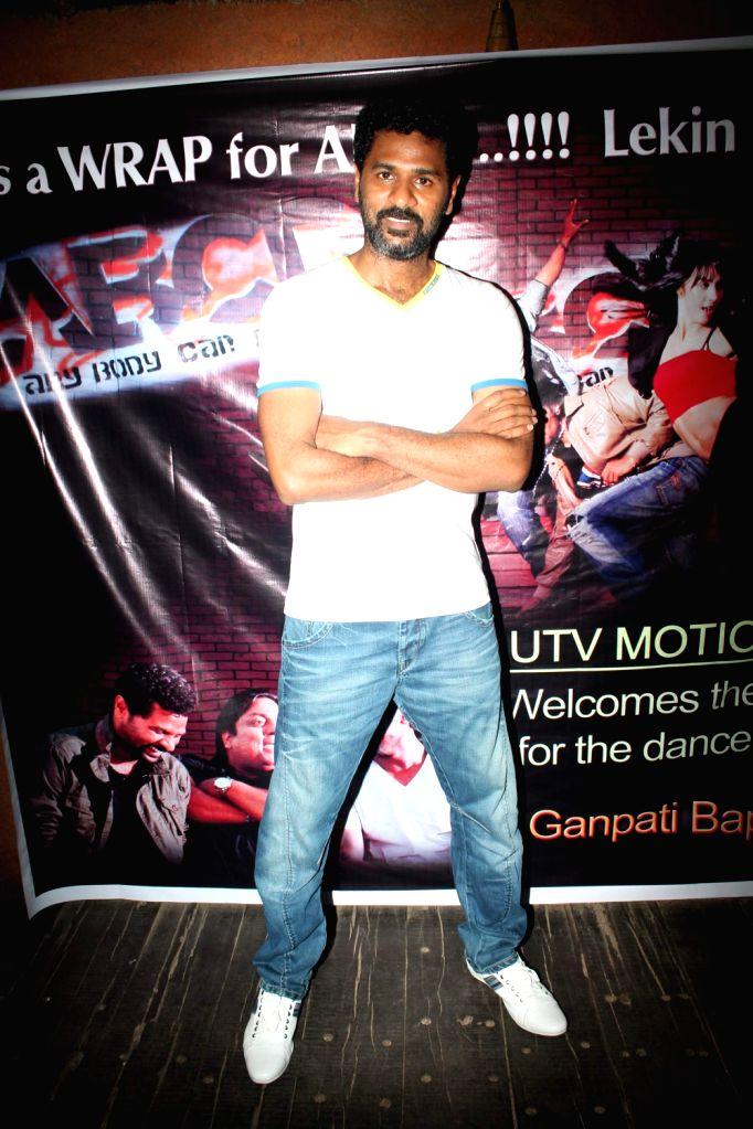 Choreographer-director Prabhu Deva at ABCD - Any Body Can Dance film press meet Mumbai, India.