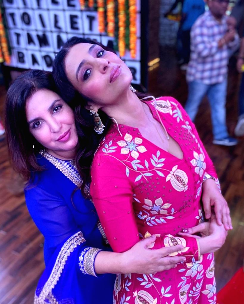 """Choreographer-filmmaker Farah Khan and actress Tabu have been friends for 30 years. Farah on Friday took to Instagram and penned a heartfelt post for the """"Chandni Bar"""" actress, saying ... - Tabu and Farah Khan"""