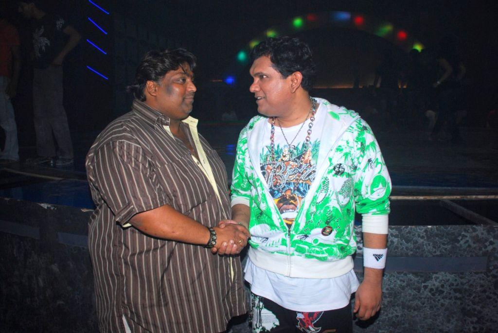 Choreographer Ganesh Acharya with a blind Actor in Mumbai.