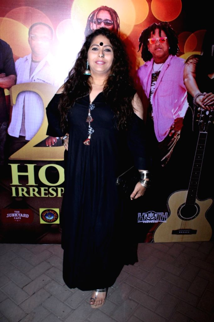 Choreographer Geeta Kapur during the launch of music album titled '24 Hours - Irresponsible' by singer Shibani Kashyap in collaboration with music band Big Mountain in Mumbai on March 15, ... - Shibani Kashyap