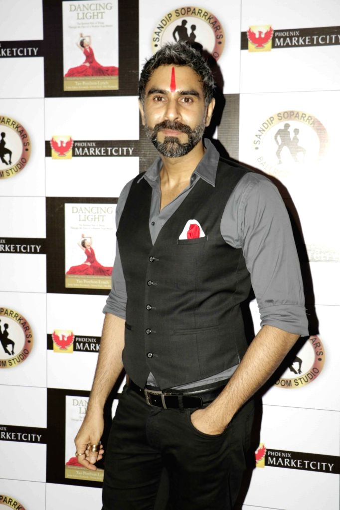 Choreographer Sandip Soparrkar during the launch of book The Dancing Light in Mumbai on Dec 26, 2015