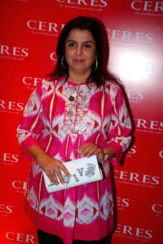 Choreographer-turned-director Farah Khan at the launch of  Ceres store in Bandra Mumbai. - Farah Khan