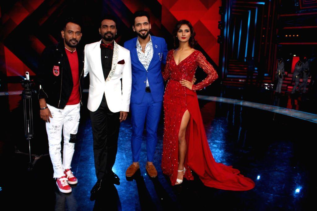 "Choreographers and judges Remo D'souza, Shakti Mohan, Dharmesh Yelande and Punit Pathak on the sets of television show ""Dance Plus Season 3""  in Mumbai on July 2, 2017. - Punit Pathak"