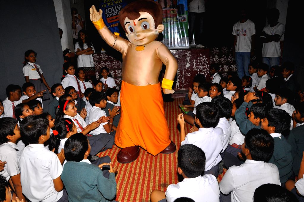 Chota Bheem enthrals students of Army Public School in Bangalore on Aug 22, 2014.