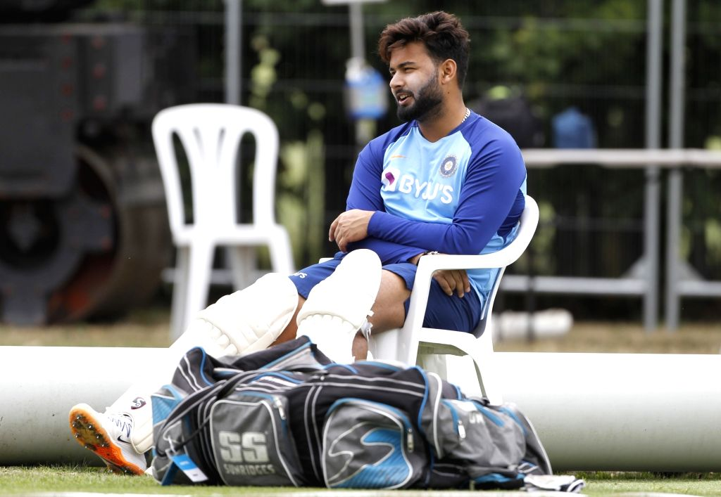 Christchurch: Indian player Rishabh Pant during a practice session ahead of the Second Test against New Zealand at the  Hagley Oval cricket ground in Christchurch, New Zealand on Feb 27, 2020. (Photo: Surjeet Yadav/IANS) - Surjeet Yadav