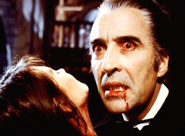 Christopher Lee in his most famous role as Count Dracula