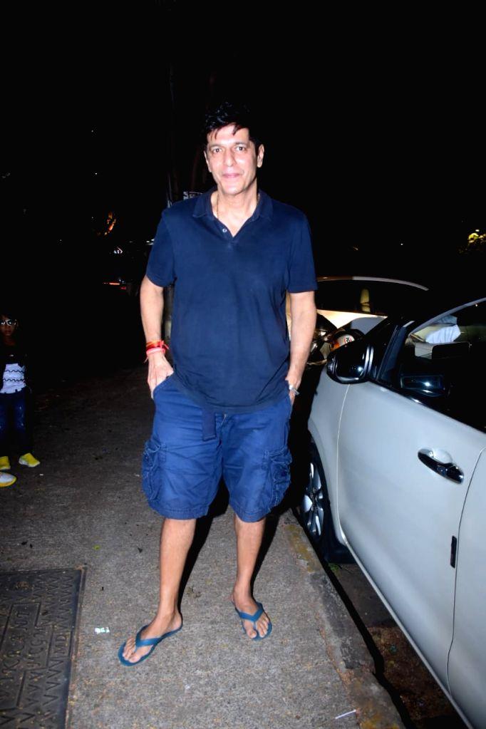 Chunky Pandey seen at a salon in Mumbai's Bandra on November 29, 2020. - Pandey