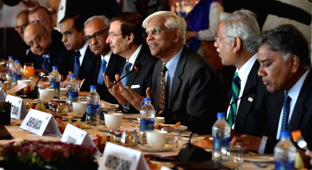 CII members during a breakfast meeting with US Congressmen in New Delhi, on Jan 18, 2016.