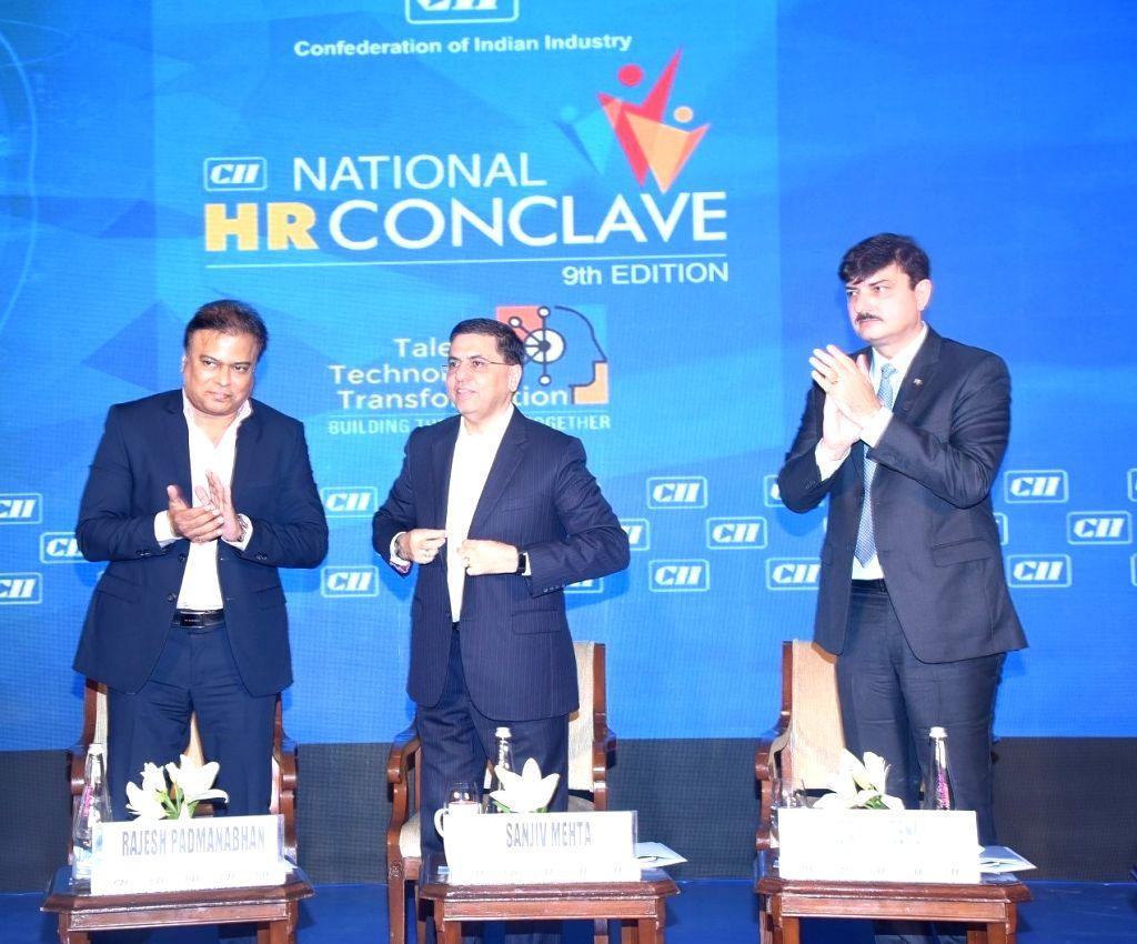 CII National HR Conclave Chairman and Welspun Group Group CHRO Director Rajesh Padmanabhan, Hindustan Unilever Limited Chairman and Managing Director Sanjiv Mehta and CII National Committee ... - Sanjiv Mehta