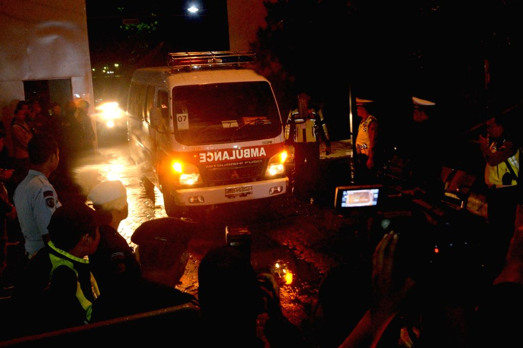 CILACAP, July 29, 2016 - An ambulance carrying the body of an executed prisoner leaves the port of Nusa Kambangan prison island, in Cilacap, Central Java, Indonesia, July 29, 2016. Indonesia executed ...
