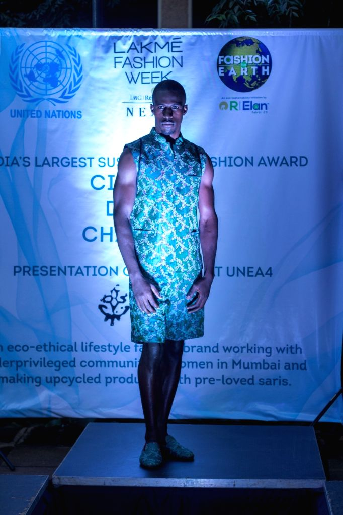 Circular Design Challenge 2019 winners 'I was a Sari' by designer duo Stefano Funari and Poornima Pande showcased their winning collection on the sidelines of the Fourth UN Environment Assembly in the Kenyan capital.