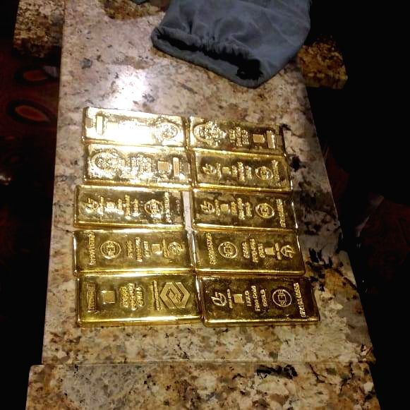 CISF seized ten gold bars weighing about 10 kg worth approximately Rs 3.60 crore at Mumbai Airport.