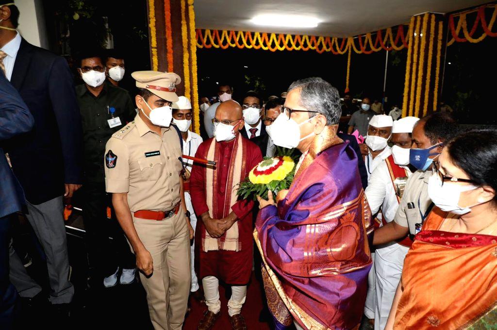 CJI NV Ramana worships at Tirupati temple on Friday morning