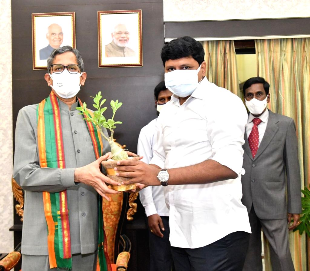 CJI participates in Green India programme in Hyderabad.