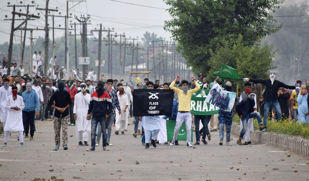 Clashes between security forces and protesters broke out on the occasion of Eid-ul-Fitr in Srinagar on June 26, 2017.
