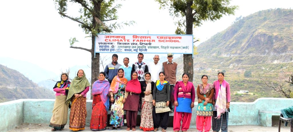 Climate School: Farmers of Tipli assembled at the school for regular sessions