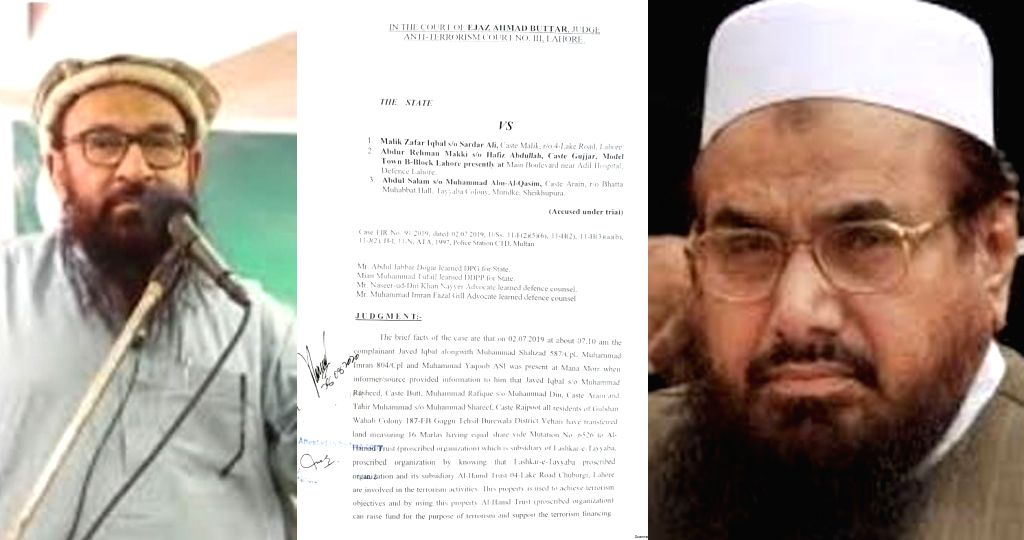 Close aides of Hafiz Saeed convicted in terror financing case.
