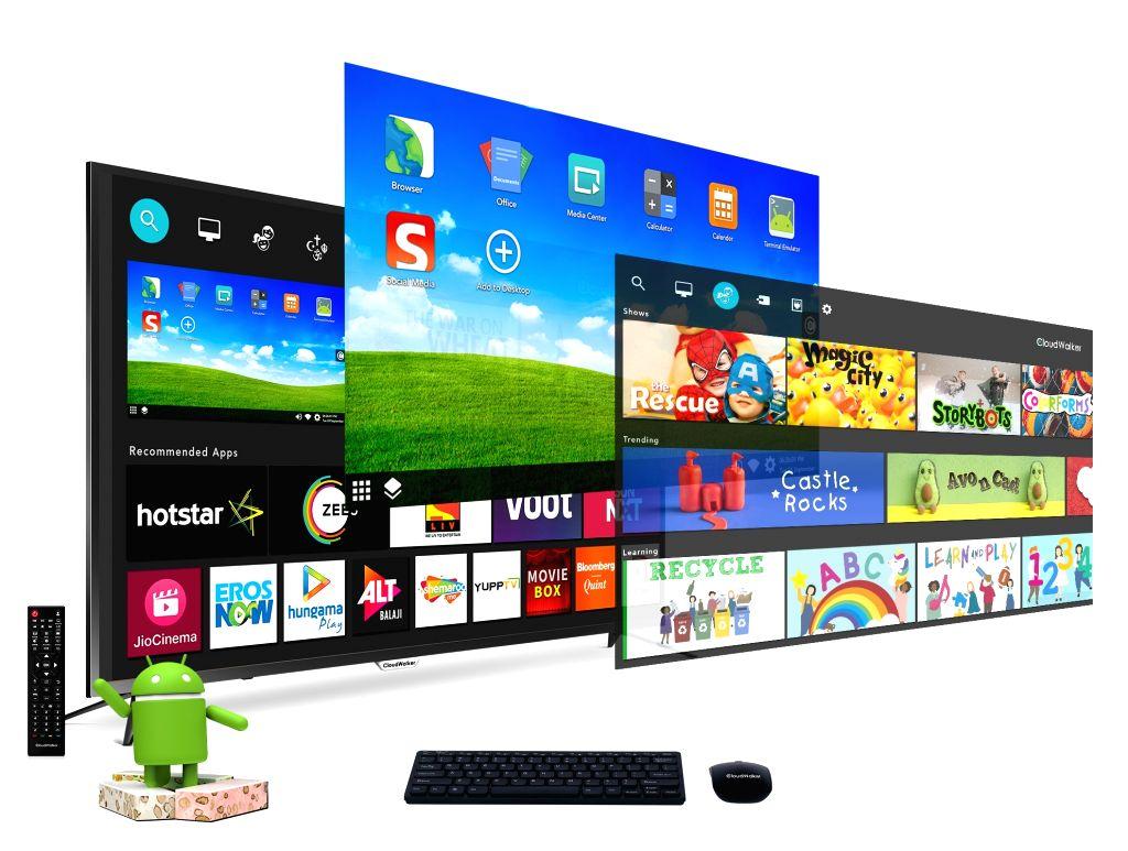 CloudWalker 4K LED smart screen.