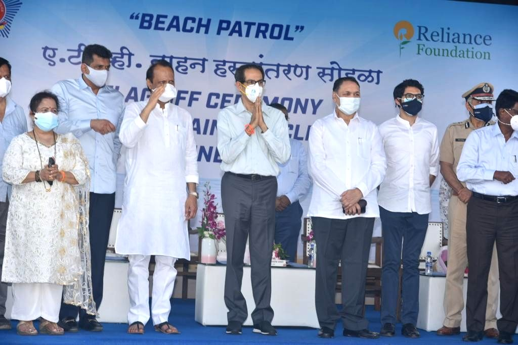 CM Uddhav Thackeray flags of 10 state of the art All Terrain Vehicles, donated by Reliance Foundation, for beach patrolling by Mumbai Police